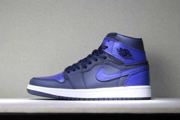 "Air Jordan 1 Mid ""Pairs Obsidian And Royal"" Obsidian/Summit White-Game Royal 554724-412"