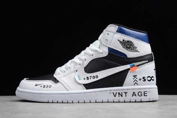 2019 Jordan Releases Jordan 1 High OG ' NT AGE' White/Black-University Blue