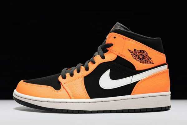 2018 New Air Jordan 1 Mid Orange/Black 554724-062