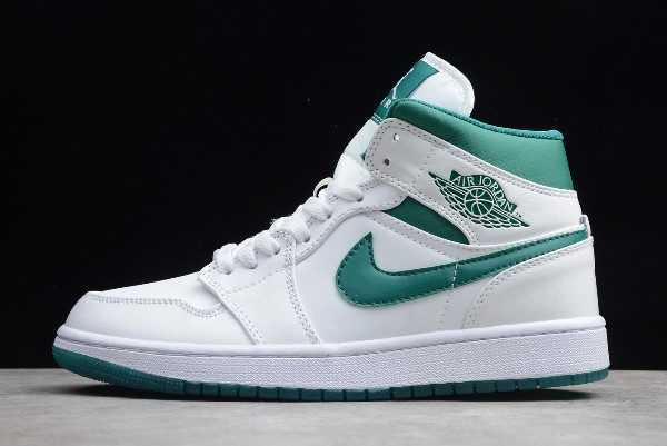 Buy Air Jordan 1 Mid Mystic Green White CD6759-103