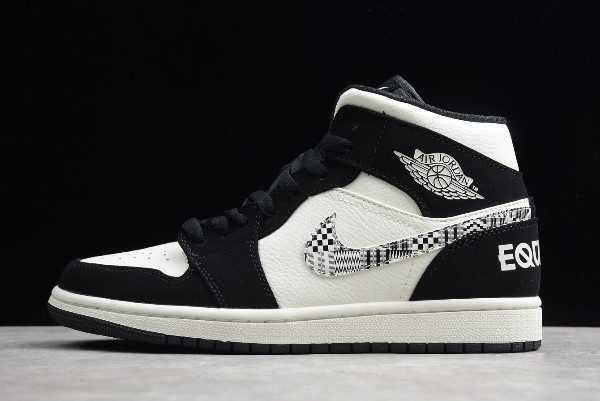 Air Jordan 1 Mid SE 'quality' Black-Sail-Wolf Grey 852542-010