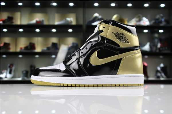 "Air Jordan 1 High OG NRG ""Gold Top 3"" Black/Metallic Gold 861428-001"