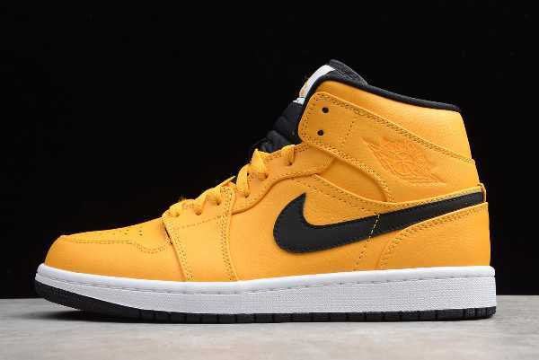 "554724-700 Mens Air Jordan 1 Mid ""Taxi Yellow"" For Sale"