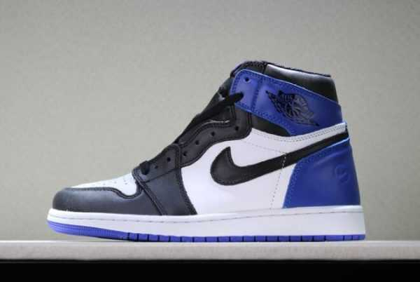 Fragment Design x Air Jordan 1 Retro High OG White/Sport Royal-Black Cheap Sale