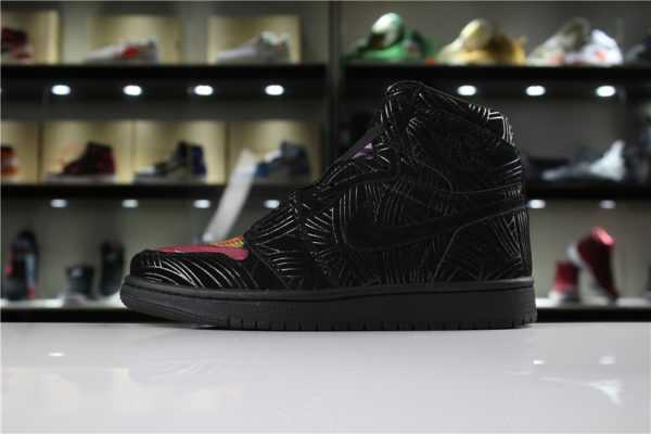 "Cheap Air Jordan 1 LHM Pomb ""Los Primeros"" Black/Multi-Color-Black AH7739-001"