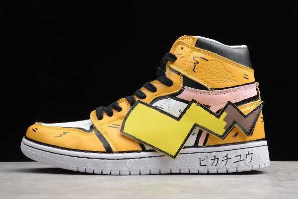 Buy New Air Jordan 1 AJ1 Mid DIY Pikachu Custom Online