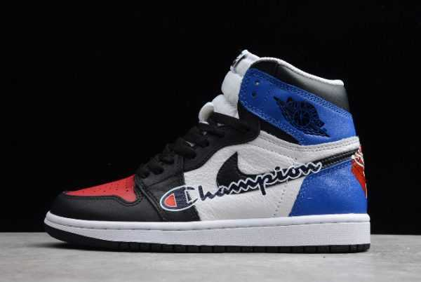 Shop The Air Jordan 1 Retro High OG Black/Red-Brilliant Blue