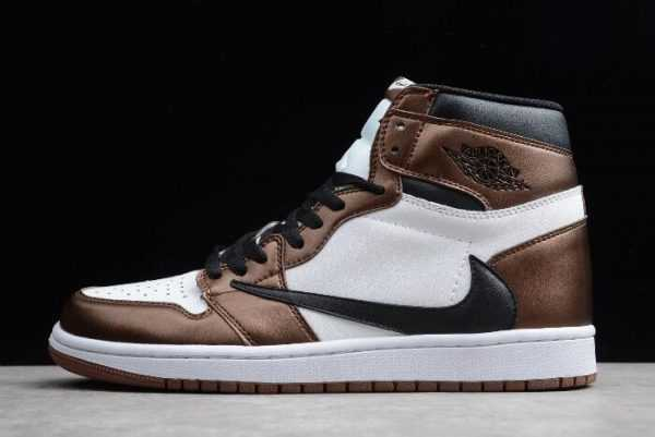 Travis Scott x Air Jordan 1 High OG Bronze/Black-White On Sale