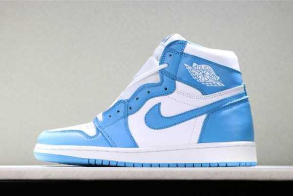 "Cheap Air Jordan 1s Retro High OG ""UNC"" White/Dark Powder Blue 555088-117"
