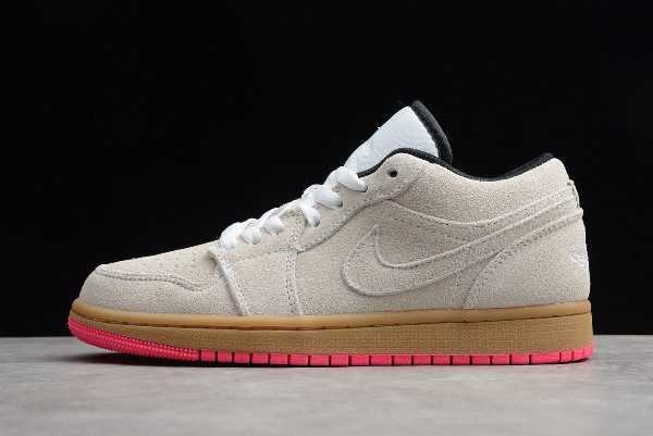 Men' s Shoes Air Jordan 1 Low Beige Pink 553558-119