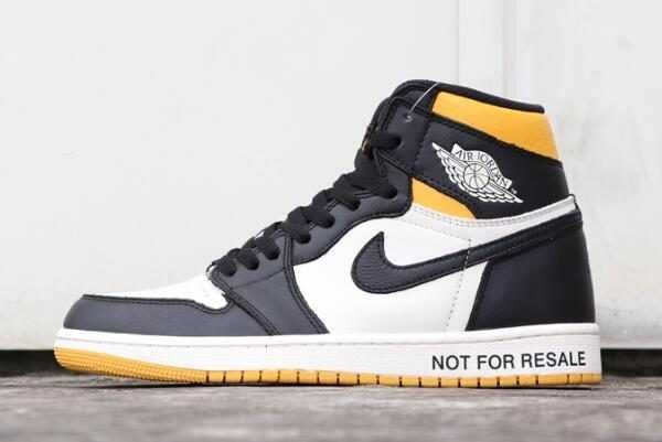 2018 Air Jordan 1 Retro High OG NRG ' o L' ' Sail/Black-Varsity Maize 861428-107