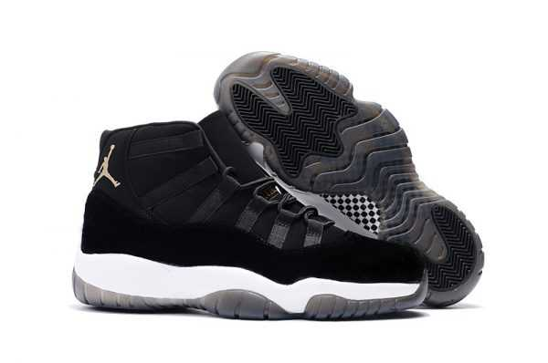 2018 New Air Jordan 11 ' lack Velvet' Black White For Sale