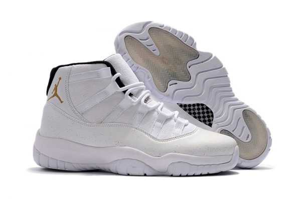 2018 Cheap Air Jordan 11 ' VO' White Gold Online Sale