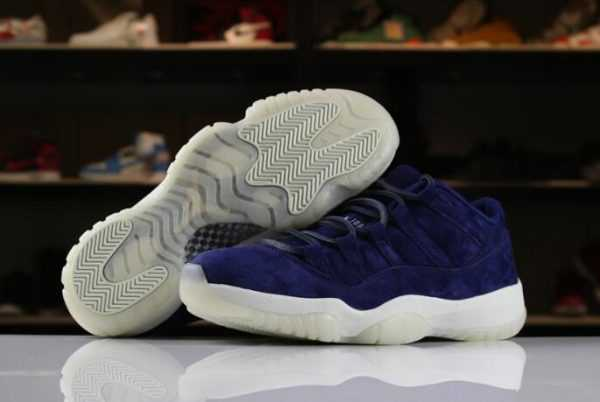 "2018 Air Jordan 11 XI Low ""RE2PECT"" Binary Blue/Sail-Binary Blue AV2187-441 For Sale"