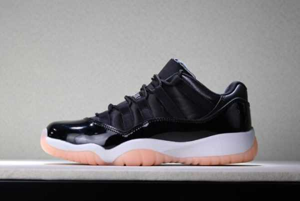"Girls Air Jordan 11 Low GS ""Bleached Coral"" Black/Bleached Coral-White 580521-013"