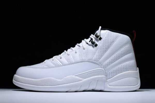 Air Jordan 12 Retro ' ising Sun' White/Varsity Red-Black 130690-163 For Sale