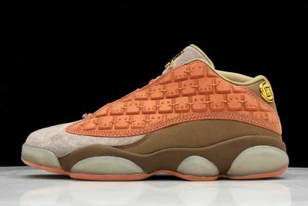 2019 Air Jordan 13 Low x Clot Terra Blush Terracotta Warriors AT3102-200