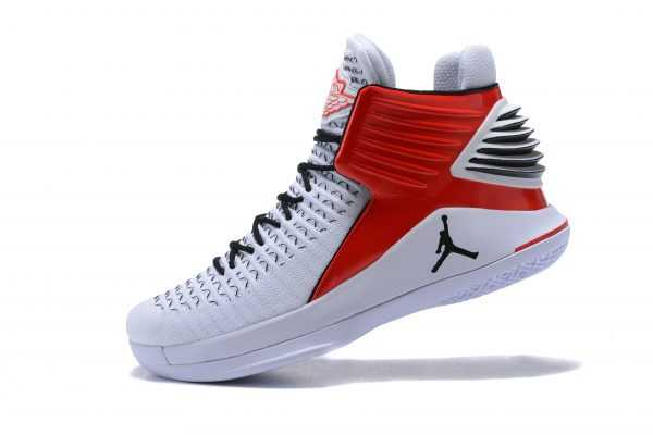 New Air Jordan 32 White Red Black Men' s Basketball Shoes For Sale