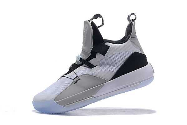 Air Jordan 33 White/Grey-Black Mens Basketball Shoes