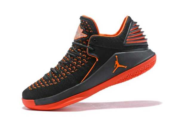 New Air Jordan 32 Low Black Orange Men' s Basketball Shoes