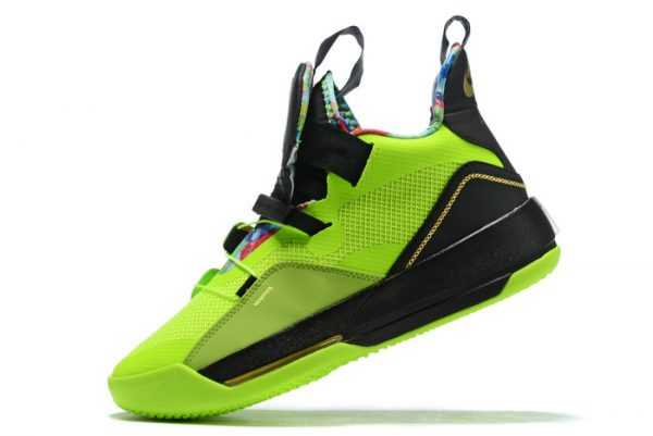Nike Air Jordan 33 Green/Black/Multi-Color Shoes