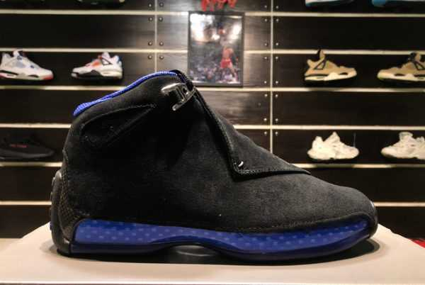 New Air Jordan 18 Retro Black Sport Royal AA2494-007 Online Shop