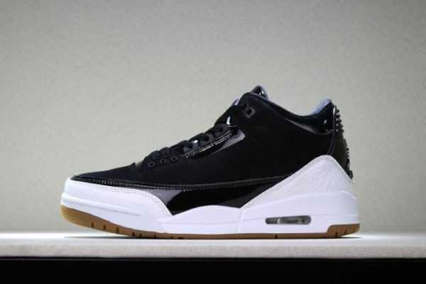 2018 Air Jordan 3 Black White Gum 441140-022 For Men and Women