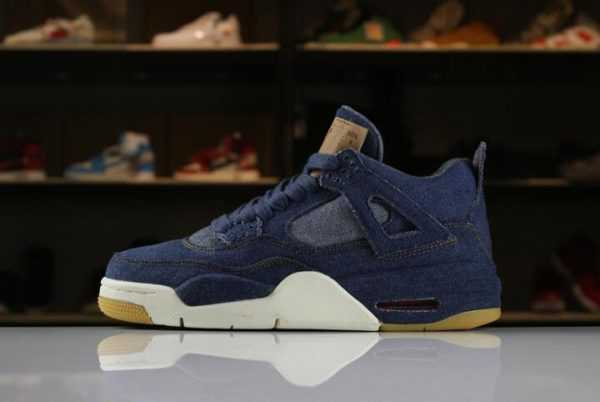 "2018 Levi' s x Air Jordan 4 IV ""Denim"" AO2571-401 For Sale"