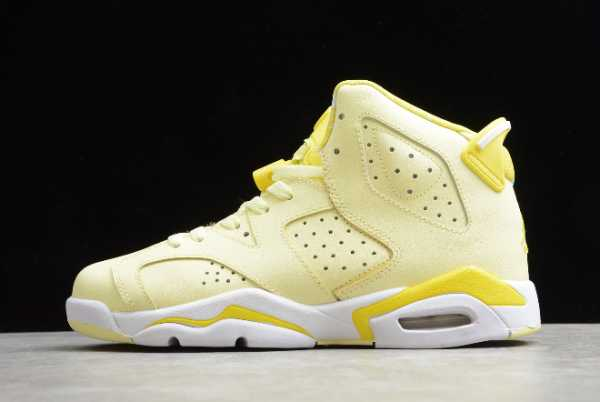 543390-800 New WMNS Air Jordan 6 GS AJ6 Dynamic Yellow Floral 2020 For Sale
